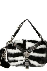 Versace Chelsea Mink Fur Leather Shoulder Bag - Lyst