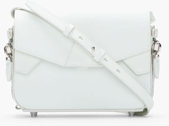 Alexander Wang Off_white Rubberized Leather Glow_in_the_dark Lydia Shoulder Bag - Lyst