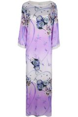 Blumarine Floral Silk Evening Dress - Lyst