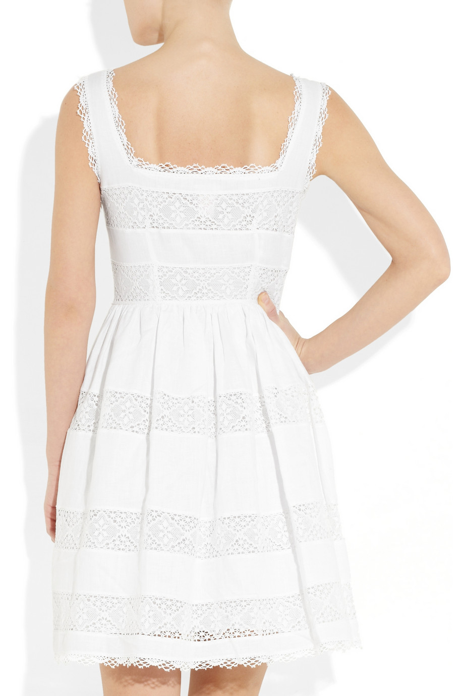 Lyst - Collette By Collette Dinnigan Lace Paneled Linen ...