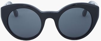 Elizabeth And James Black Round Carroll Cats_eye Sunglasses - Lyst