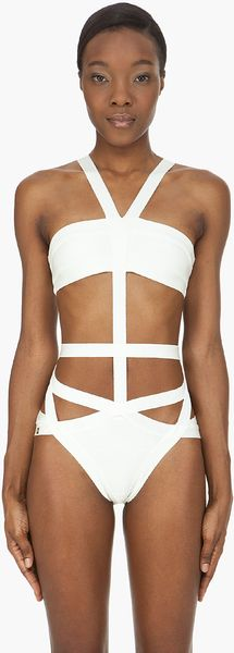 Hervé Léger Cut-Out One Piece - Lyst