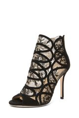 Jimmy Choo Fauna Lace Bootie in Black