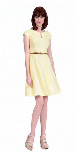 Kay Unger Cap Sleeved A Line Dress - Lyst
