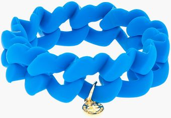 Marc By Marc Jacobs Electric Blue Haute Mess Rubber Turnlock Key Bracelet - Lyst