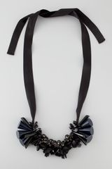 Marni Beaded Ribbon Tie Necklace - Lyst