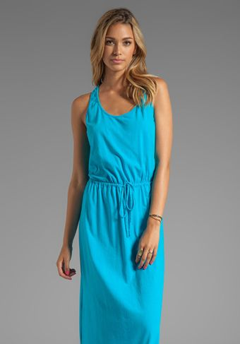 Michael Stars Crochet Racerback Maxi Dress in Blue - Lyst