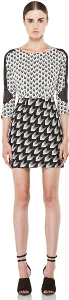 Rag & Bone Gaytari Silk Dress in Geometric Printblack - Lyst