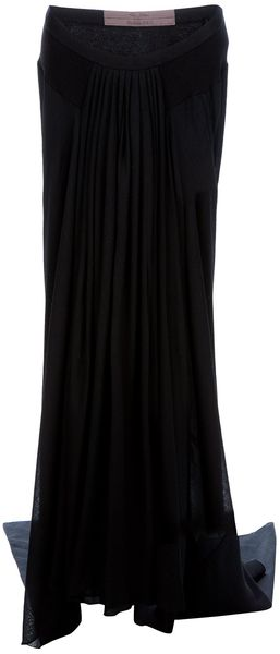 Rick Owens Long Draped Skirt - Lyst