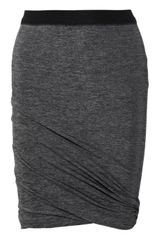 T By Alexander Wang Ruched Jersey Mini Skirt - Lyst