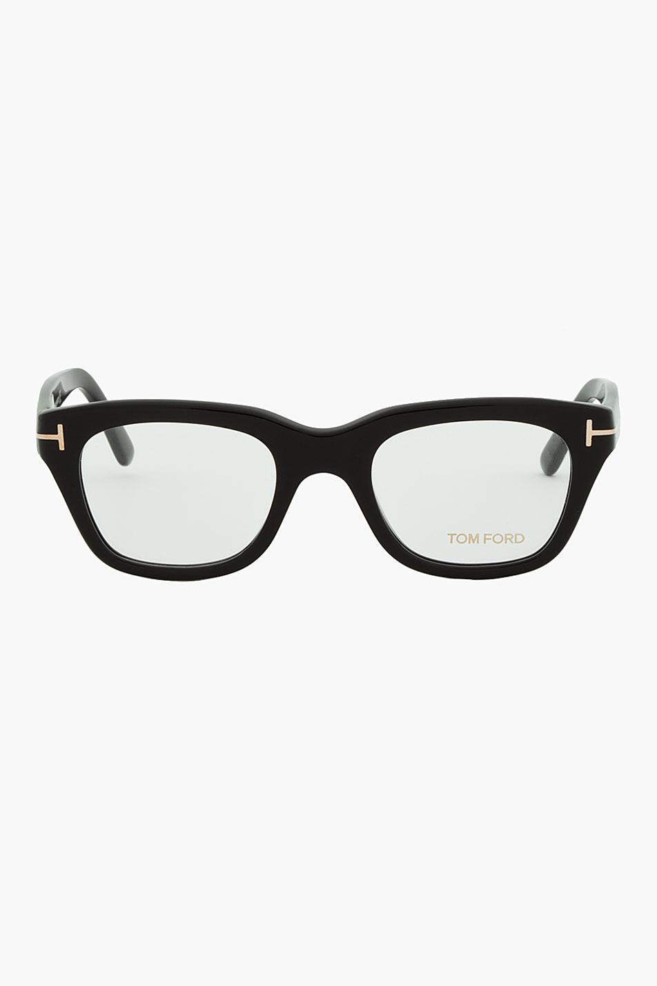 Thick Black Frame Prescription Glasses : Tom ford Black Thick Frame Cat Eye Glasses in Black for ...