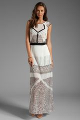 BCBGMAXAZRIA Runway Mixed Print Maxi in White - Lyst