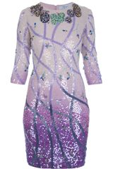 Blumarine Sequinned Dress - Lyst