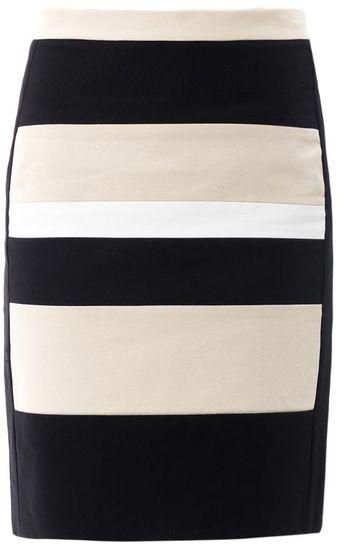 DKNY Colourblock Pencil Skirt - Lyst
