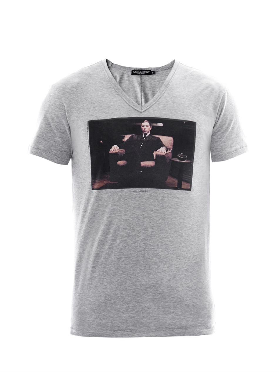 Lyst dolce gabbana al pacino godfather print t shirt for T shirt printing mobile al