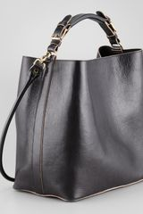 Marni Leather Snapliner Bucket Bag - Lyst