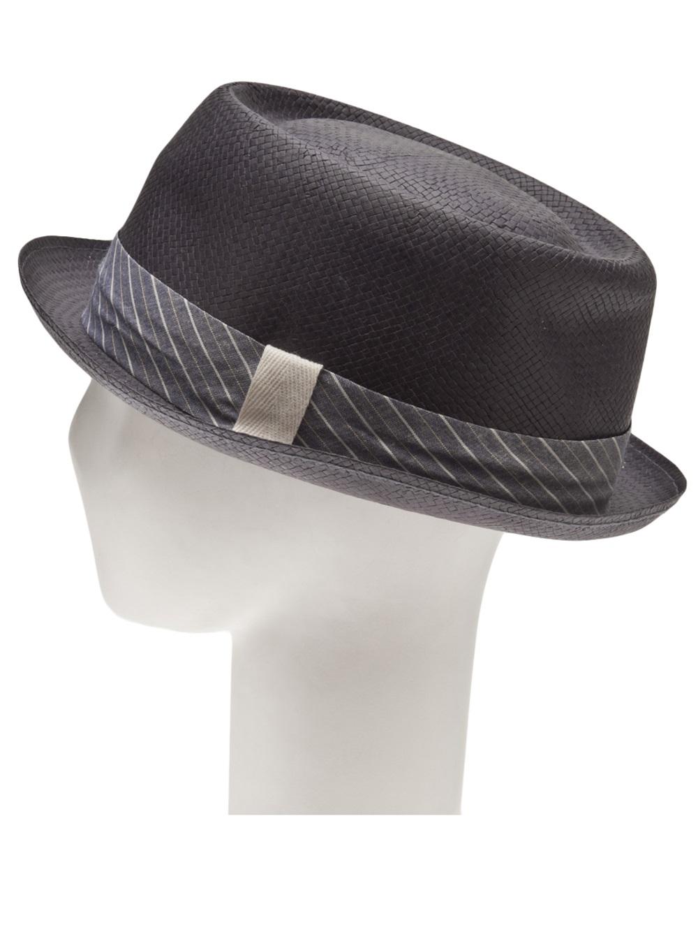 abebeb986b0 Rag   Bone Summer Pork Pie Hat in Gray for Men - Lyst