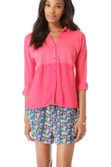Splendid Button Down Shirt - Lyst