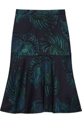 Stella McCartney Fluted Woolblend Jacquard Skirt - Lyst