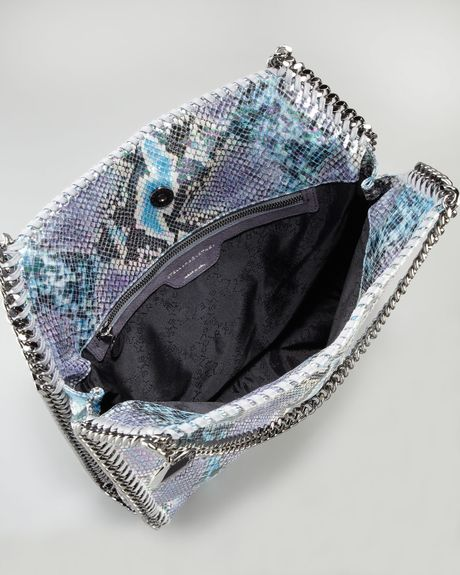Stella Mccartney Baby Bella Faux Python Tote Bag Navy In