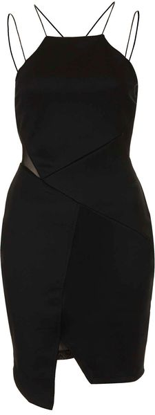 Topshop Strappy Step Hem Dress - Lyst