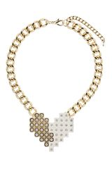 Topshop Pixelated Heart Collar - Lyst