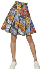 J.W. Anderson Pleated Printed Cotton Twill Skirt - Lyst