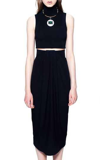 Proenza Schouler Matte Viscose Sleeveless Cropped Turtleneck - Lyst