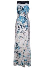 BCBGMAXAZRIA Floral Lace Long Dress - Lyst
