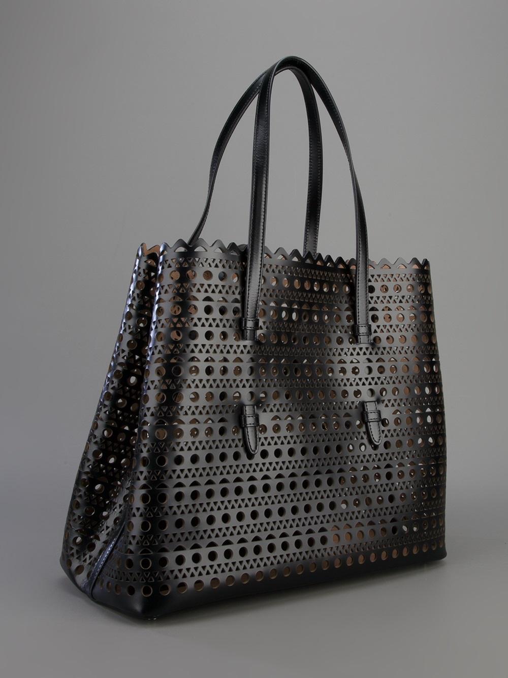 Alaia Black and white medium laser-cut bag DF8fOc6w9
