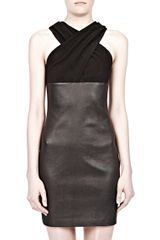 Alexander Wang Criss Cross Suede Leather Dress - Lyst