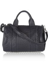 Alexander Wang The Rocco Texturedleather Bag - Lyst