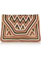Antik Batik Paco Cordembellished Leather Envelope Clutch - Lyst