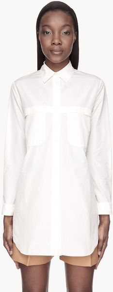 Carven Pale Peach Sheer_back Blouse - Lyst