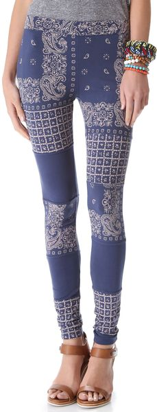 Free People Bandana Print Leggings - Lyst