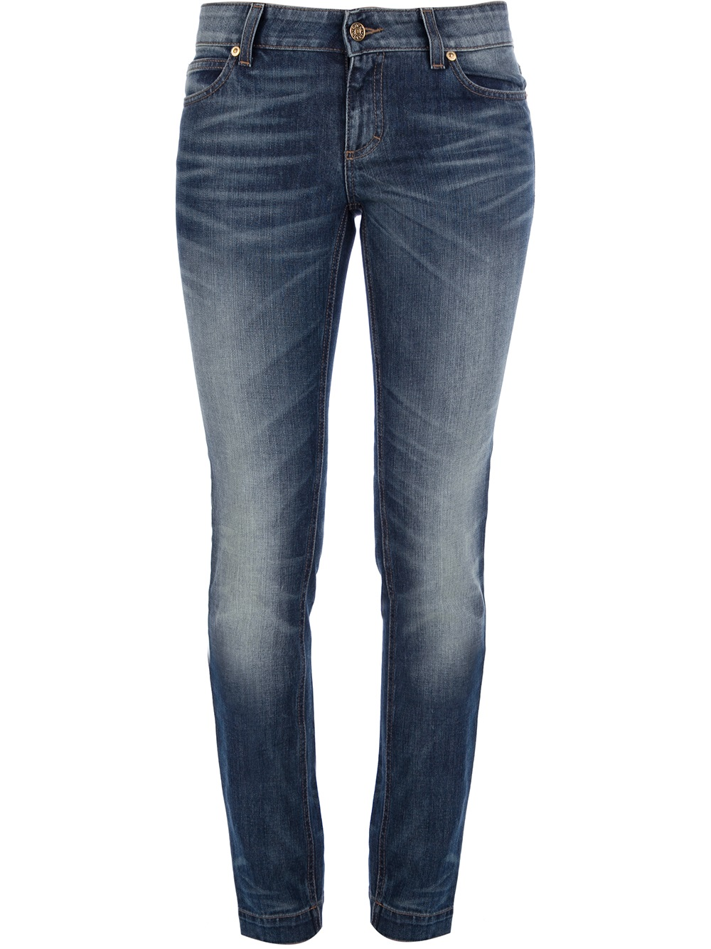 lyst gucci cropped stone washed jeans in blue. Black Bedroom Furniture Sets. Home Design Ideas