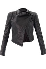 Helmut Waterfall Front Leather Jacket - Lyst