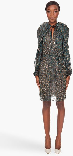 Lanvin Metallic Jacquard Dress - Lyst