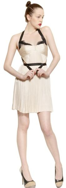 Maria Lucia Hohan Garter Belt Lace Silk Tulle Dress - Lyst