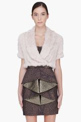 Matthew Williamson Rabbit Fur Shrug Vest - Lyst