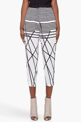 Neil Barrett Striped Tapered Silk Pants - Lyst