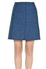 Proenza Schouler Melange Techno Wool Tweed Skirt - Lyst