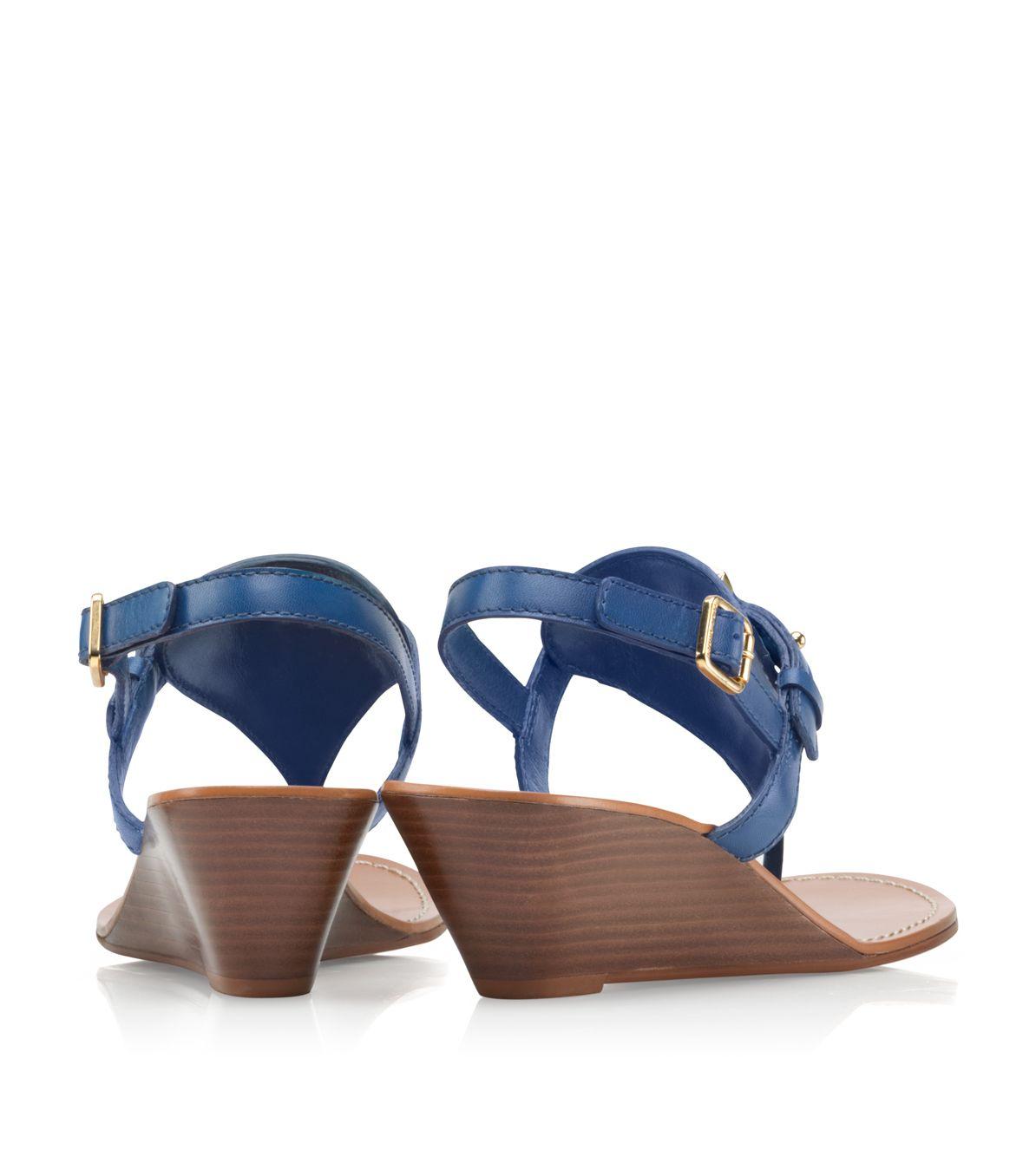 6cf41388ace5e6 ... switzerland lyst tory burch mini miller croc effect leather sandals in  blue bece0 9dd2f