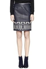 Tory Burch Leather Brianna Skirt - Lyst