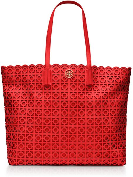 Tory Burch Kelsey Tote in Red (poppy red)