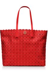 Tory Burch Kelsey Tote in Red (poppy red) - Lyst