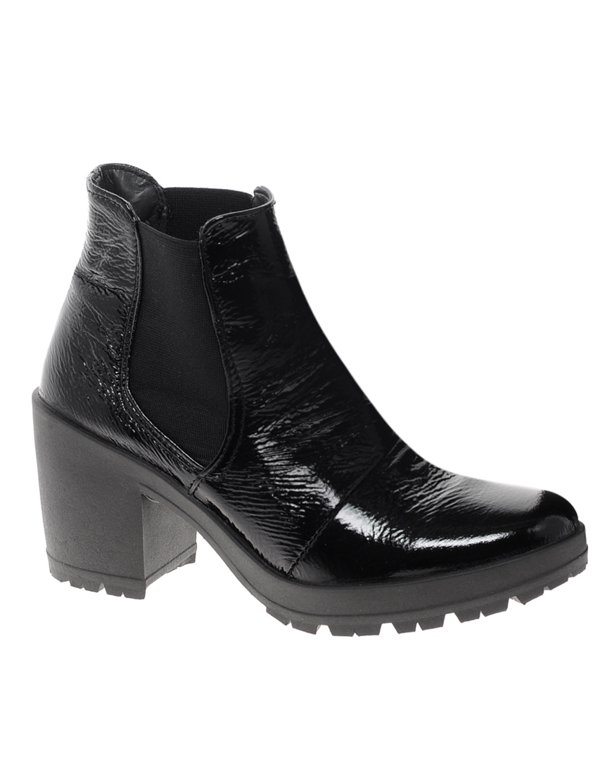 asos absolute chelsea ankle boots in black lyst