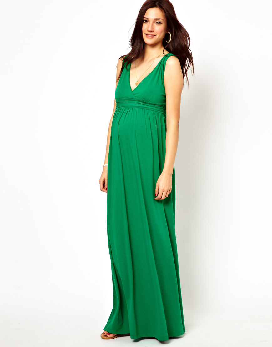 0f3dcf998d4 Insight Asos Maternity Exclusive Maxi Dress with Grecian Drape in ...