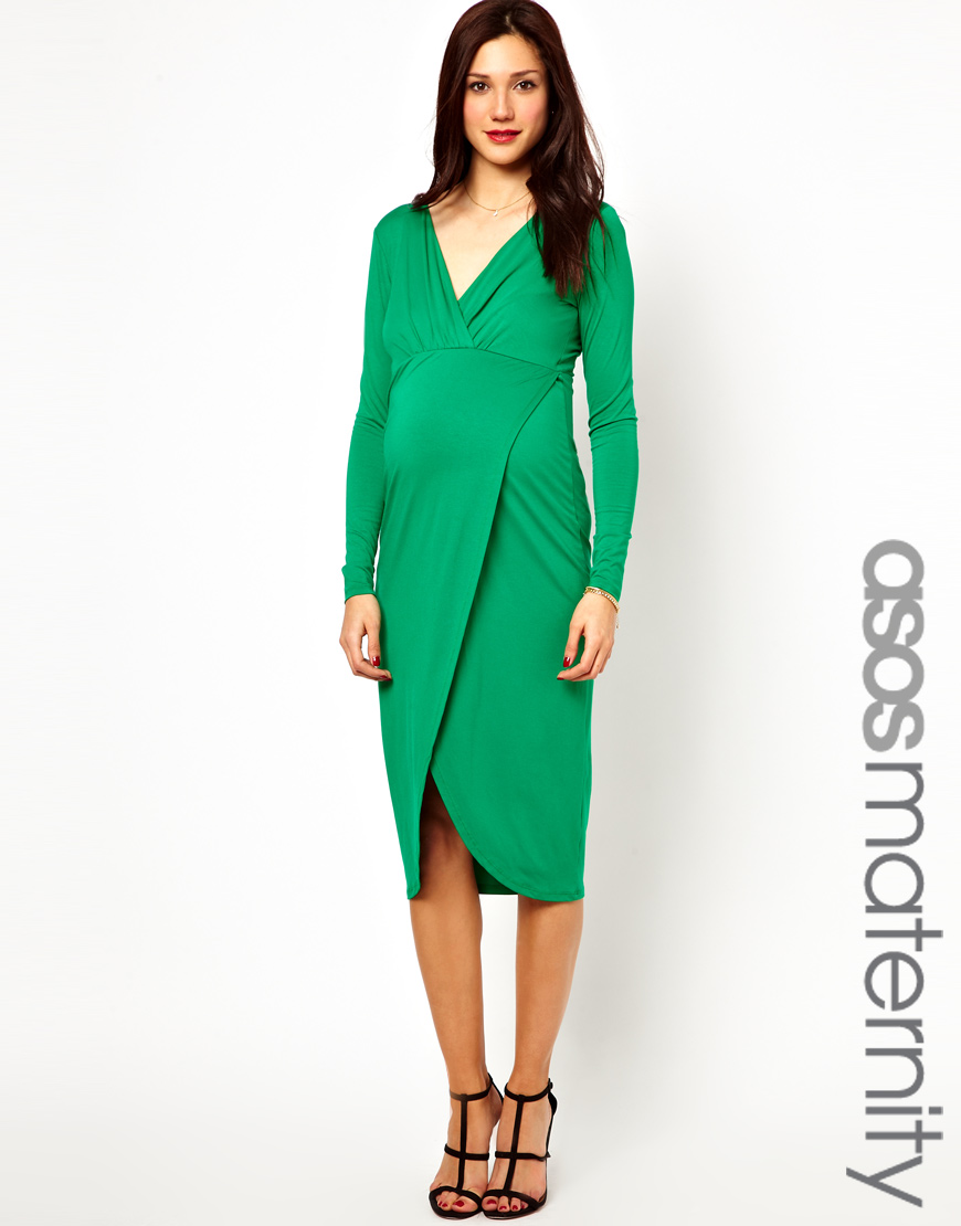 The textile rebels asos maternity midi dress with wrap skirt in gallery ombrellifo Choice Image