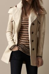 Burberry Cape Detail Trench Coat - Lyst